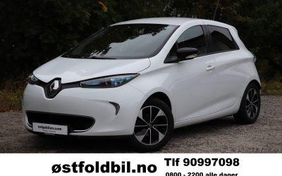 Elektrisk: 2018 Renault Zoe, 64000 km, 41kwh, Kr 144.900,- med 8 nye dekk