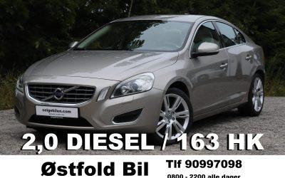 2011 Volvo S60, D3, 2,0, 163 hk diesel, 125000 km, kr 125.000,- inkl reg.avg.