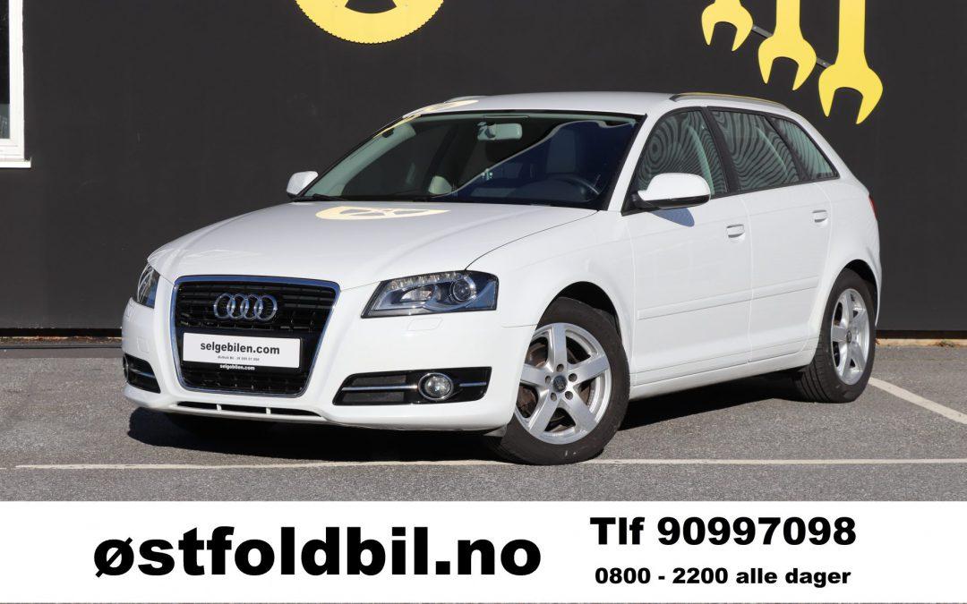 2012 Audi A3 Sportback, bensin, 105 hk, 93000 km, kr 89.900,- inkl reg